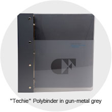 Techie Polybinder in gun-metal grey